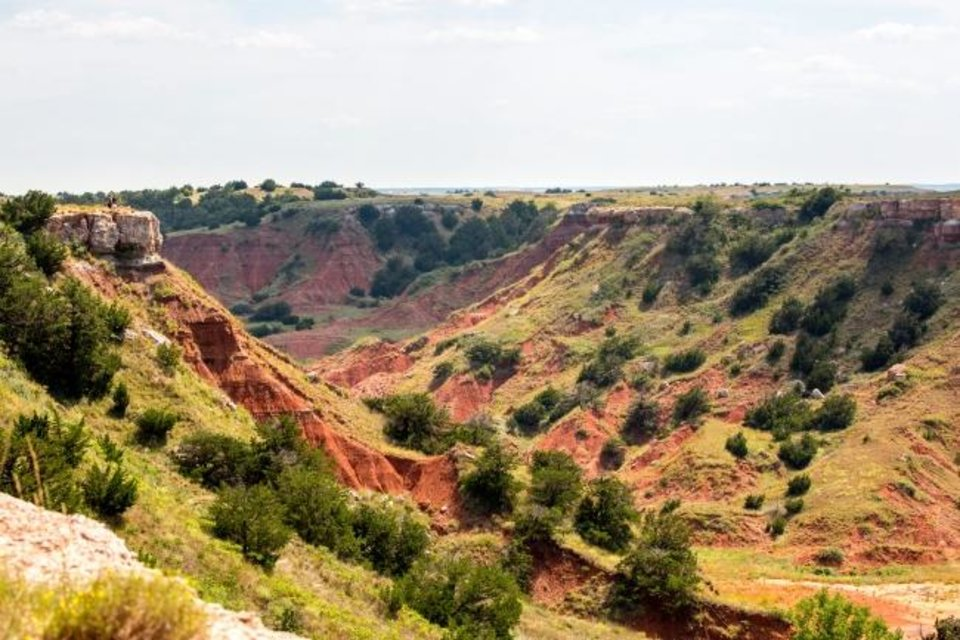 Photo -  This is one of the views at Gloss Mountain State Park. [Lori Duckworth/Oklahoma Tourism]