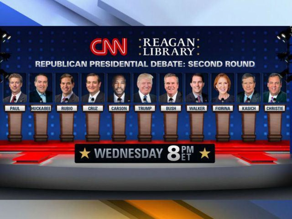Stage lineup for tonight's prime-time GOP debate - Article Photos 1/2