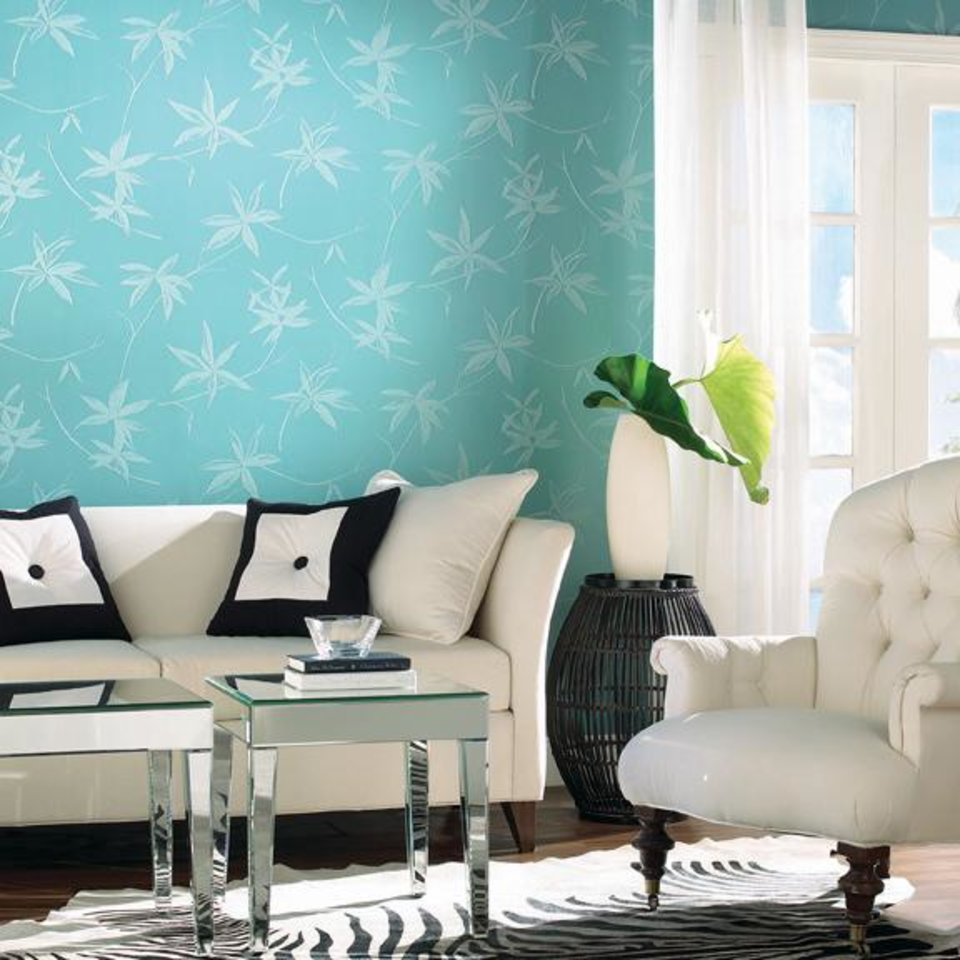 Photo - Turquoise is top decor shade for 2010. (Courtesy York Wallcoverings/MCT)