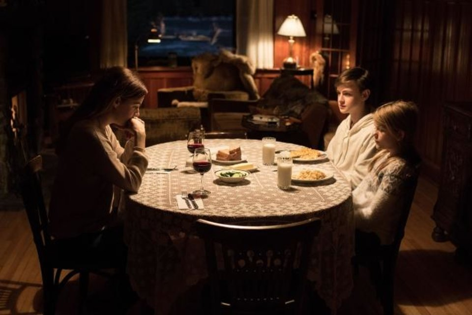 Photo -  From left, Riley Keough, Jaeden Lieberher and Lia McHugh appear in
