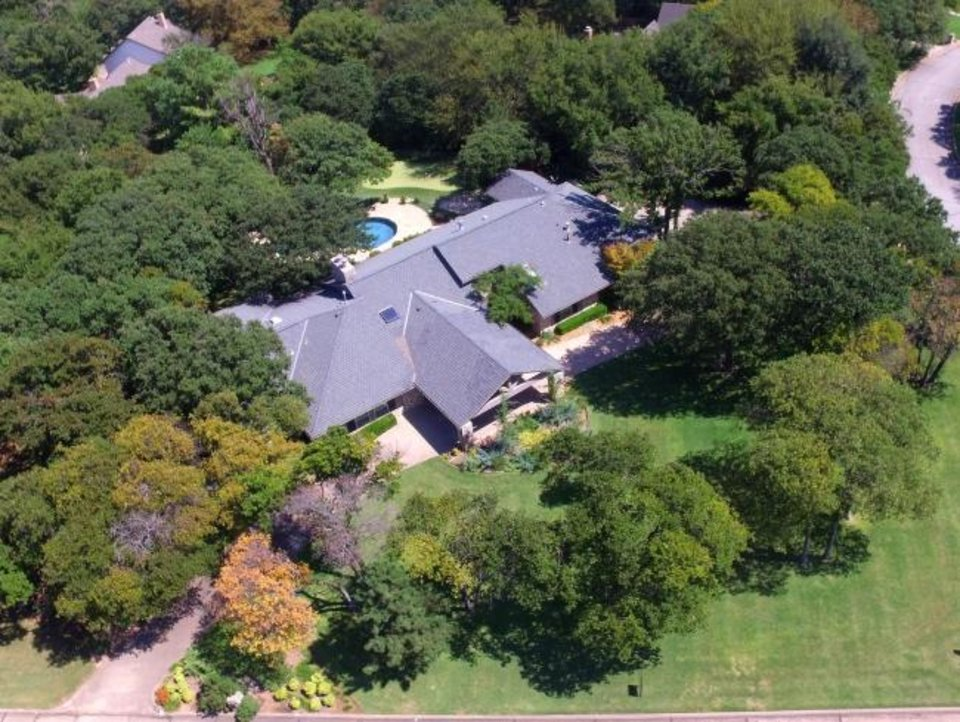Photo -  Aerial view of the Listing of the Week, 3808 Ridgewood Drive, Edmond. [PHOTO PROVIDED]