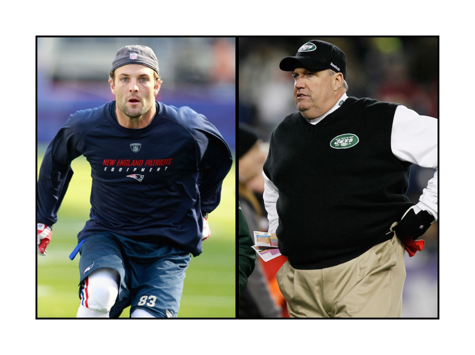 Photo -  Apparently there's more to the Wes Welker-Rex Ryan relationship than foot puns. How much more? Juding from Ryan's comments to ESPN, maybe it's best kept between the two of them.