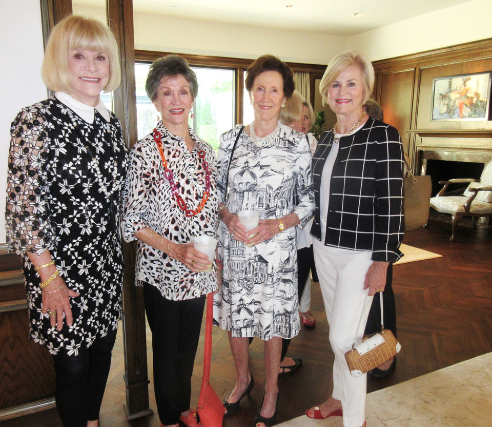 Photo - Judy Love, Gennie Johnson, Lida Elkins, Martha Bradshaw. HELEN FORD WALLACE PHOTO/THE OKLAHOMAN