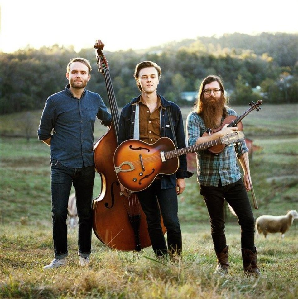 Photo - Singer-songwriter Parker Millsap, center, and his bandmates, bassist Michael Rose, left, and fiddler Daniel Foulks, are touring in support of their new album