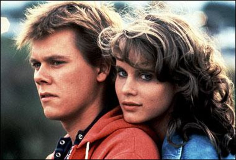 Photo - Kevin Bacon and Lori Singer in 1984's