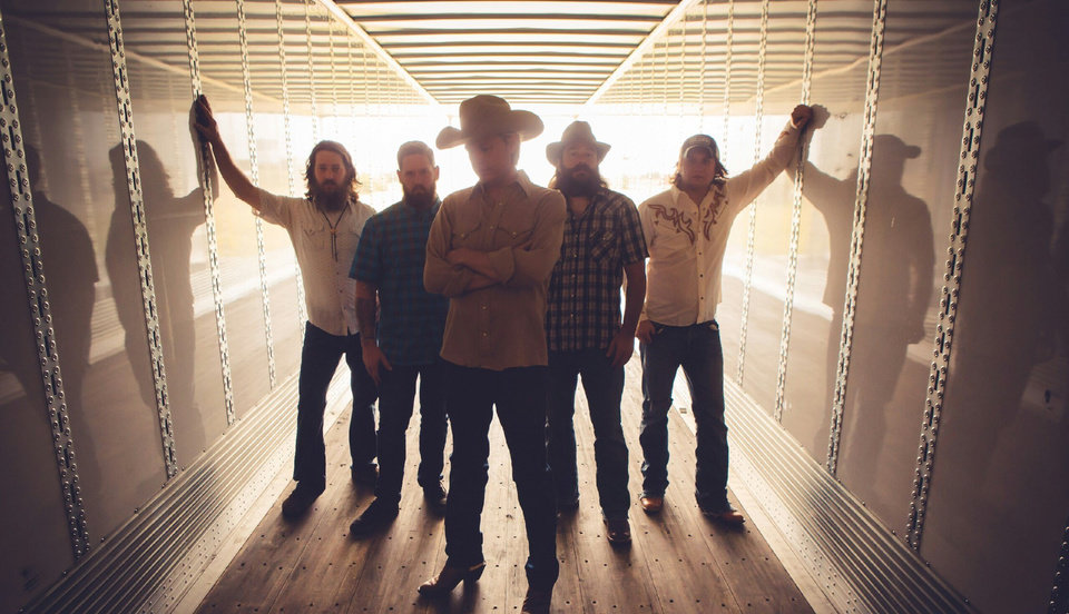 Photo -  Jason Boland, center, pictured with his backing band The Stragglers. Boland co-organizes the festival with members of the Turnpike Troubadours. [Photo provided]