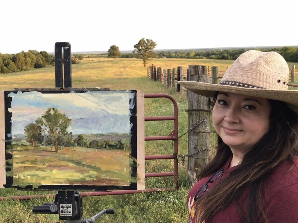 Photo - Ada artist Kelly Pennington will be among the artists statewide participating in this weekend's Oklahoma Art Crawl. [Photo provided]