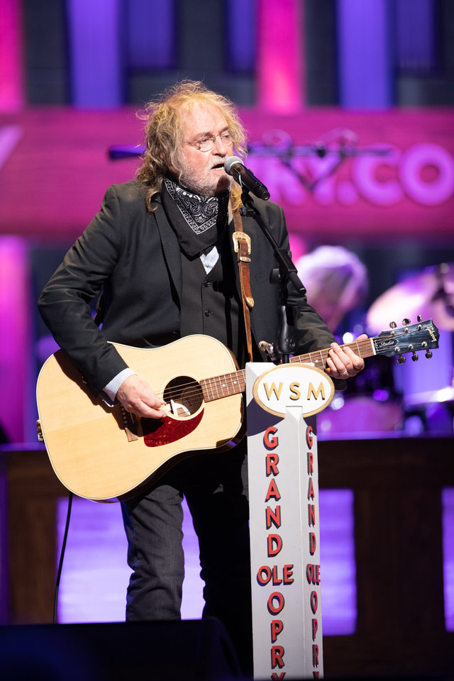 Photo - Ray Wylie Hubbard plays July 17, 2019, at the Grand Ole Opry. At age 72, the Oklahoma native was making his Opry debut. [Photo provided by the Grand Ole Opry]