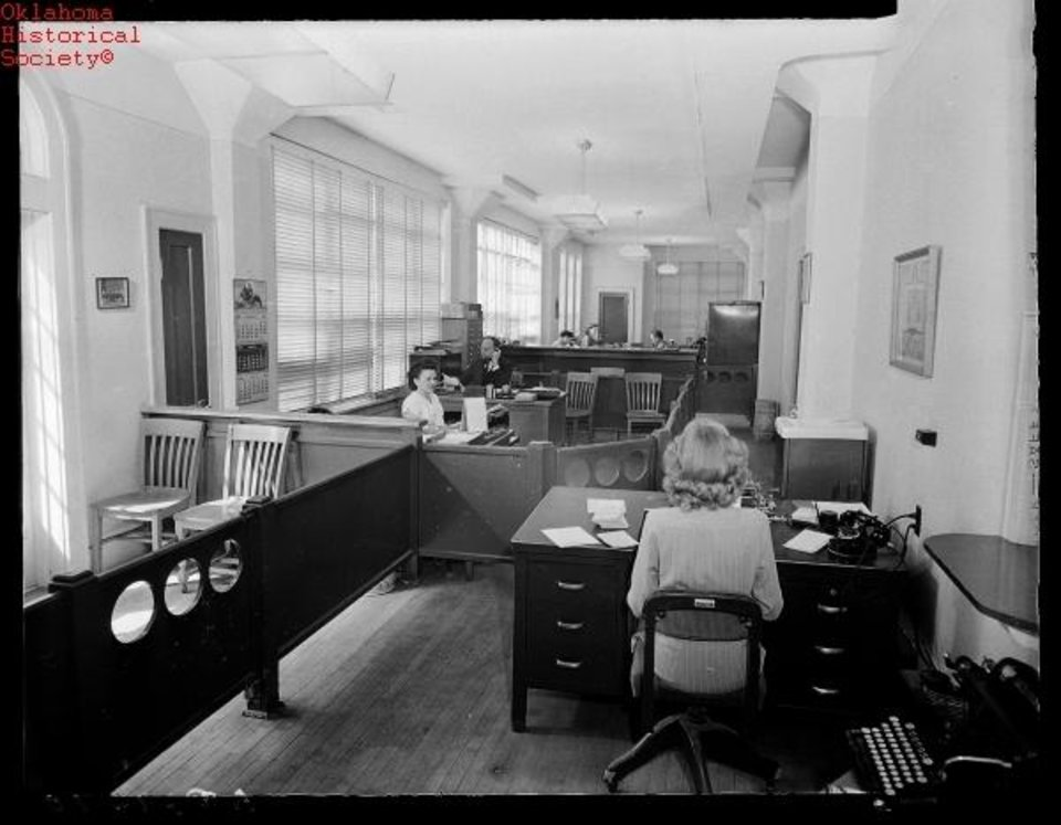 Photo -  Offices of Cain's Coffee when the company was based at 1 NW 12 are shown in this undated photo. [Oklahoma Historical Society Photo]