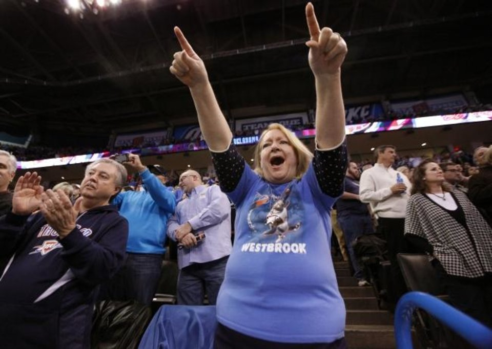 Photo -  Thunder fans like Susan Clark — you know, the
