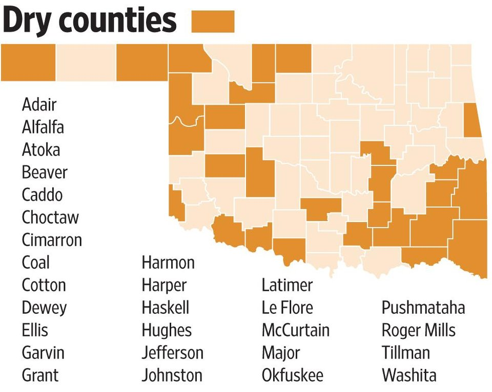 Hobart Bar Embraces New Liquor Law News OK - Map of counties in oklahoma