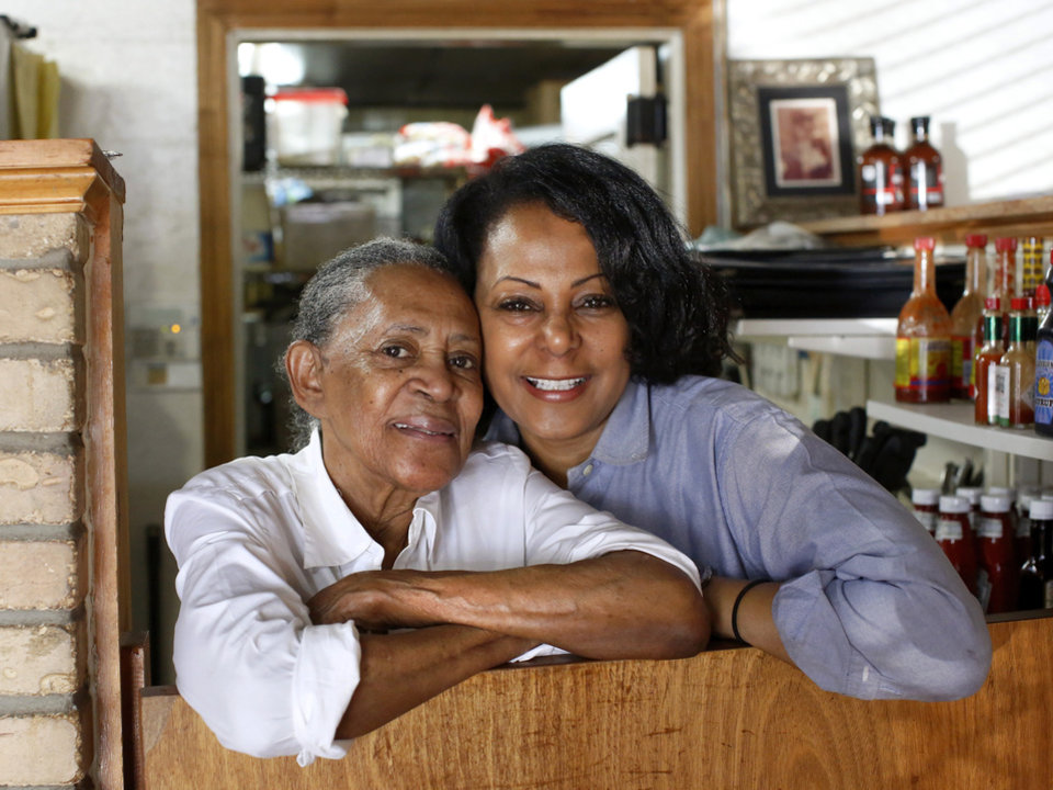 Photo - Florence Jones Kemp and her daughter. Victoria operate Florence's Restaurant together.  [Jim Beckel/The Oklahoman]
