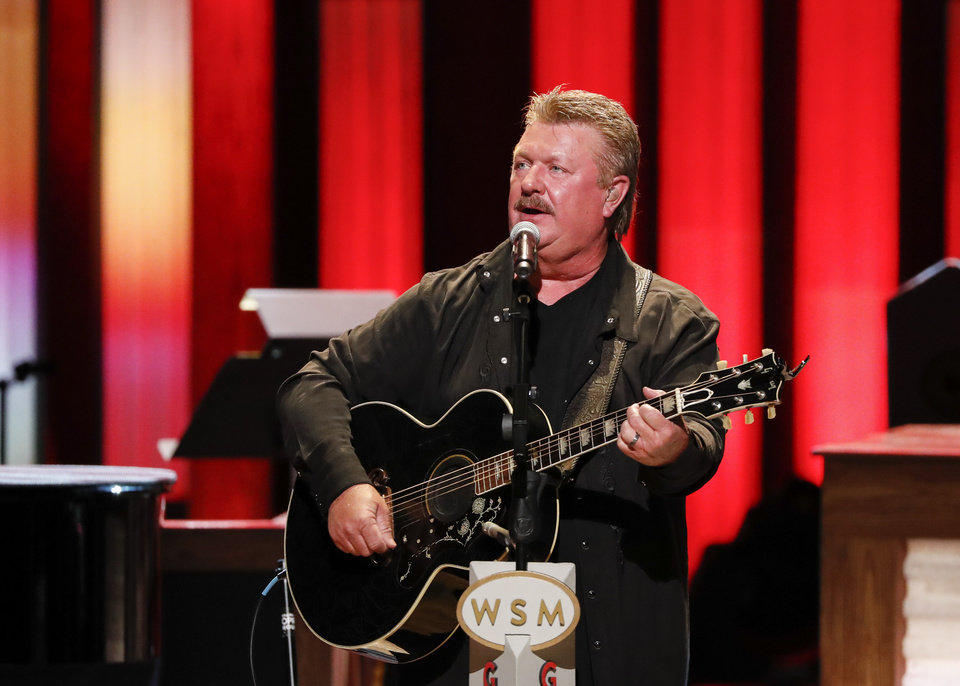"Photo - Joe Diffie performs at ""Luke Combs Joins the Grand Ole Opry Family"" at Grand Ole Opry on Tuesday, July 16, 2019 in Nashville, Tenn. (Photo by Al Wagner/Invision/AP)"