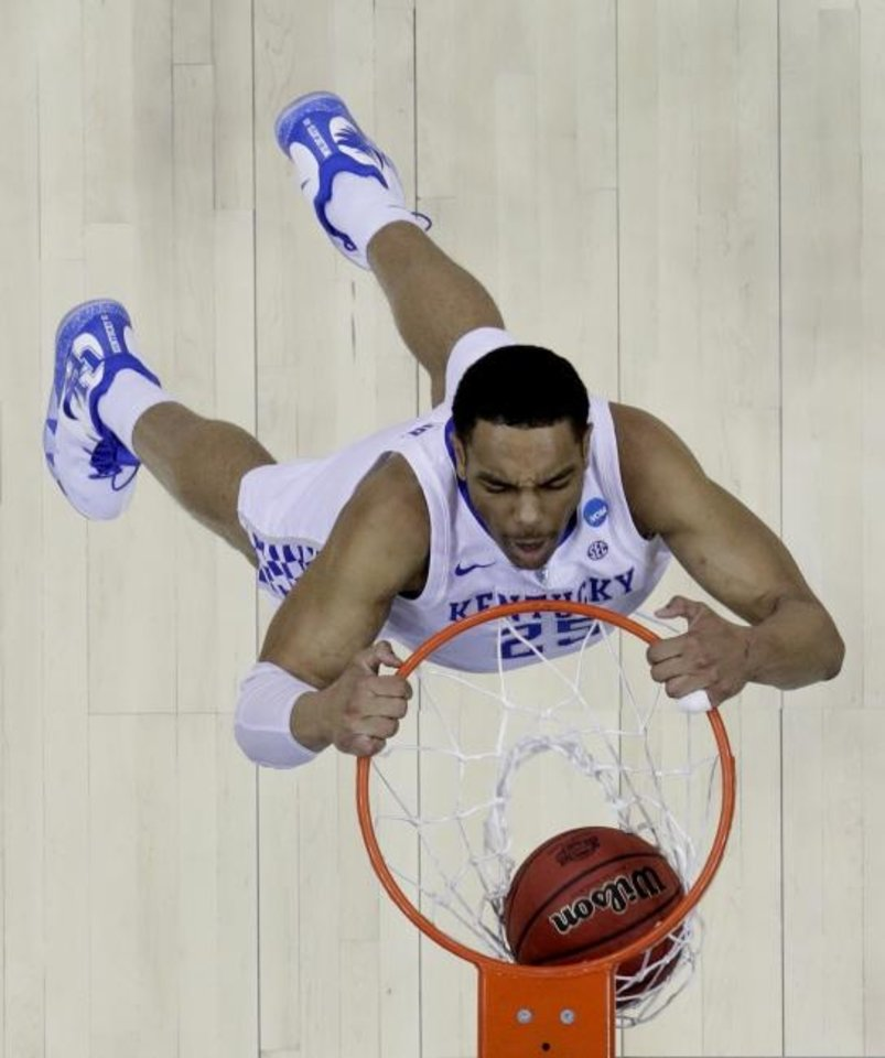 Photo -  Kentucky's PJ Washington could be among the top players available Thursday by the time the Thunder are selecting 21st in the NBA Draft. [AP Photo/Charlie Riedel]