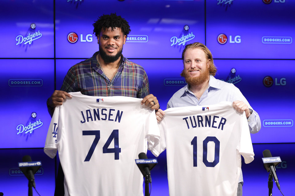 ... Jersey Los Angeles Dodgers closer Kenley Jansen 09f969eaed0