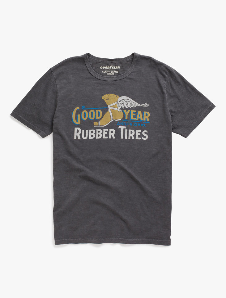 Photo - A shirt from the new Lucky Brand and Goodyear collaboration. [Photo Provided]