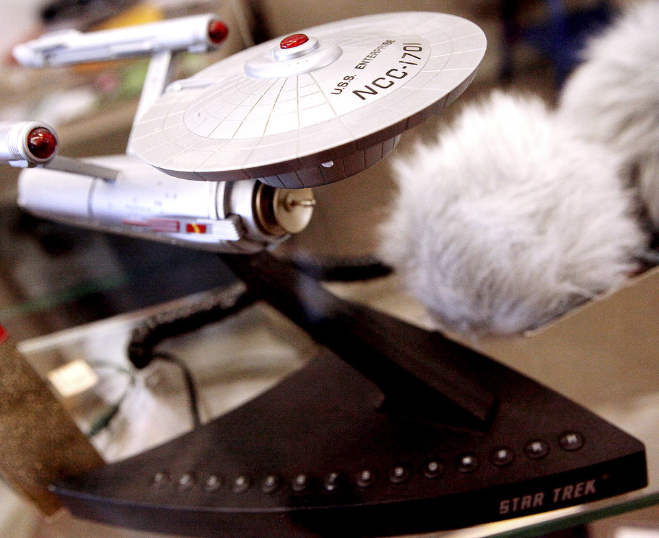 Photo - A model of the USS Enterprise is part of the collection.