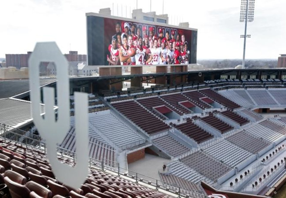 Photo -  OU is scheduled to open the 2020 football season on Sept. 5 at Owen Field against Missouri State. [OKLAHOMAN ARCHIVES]