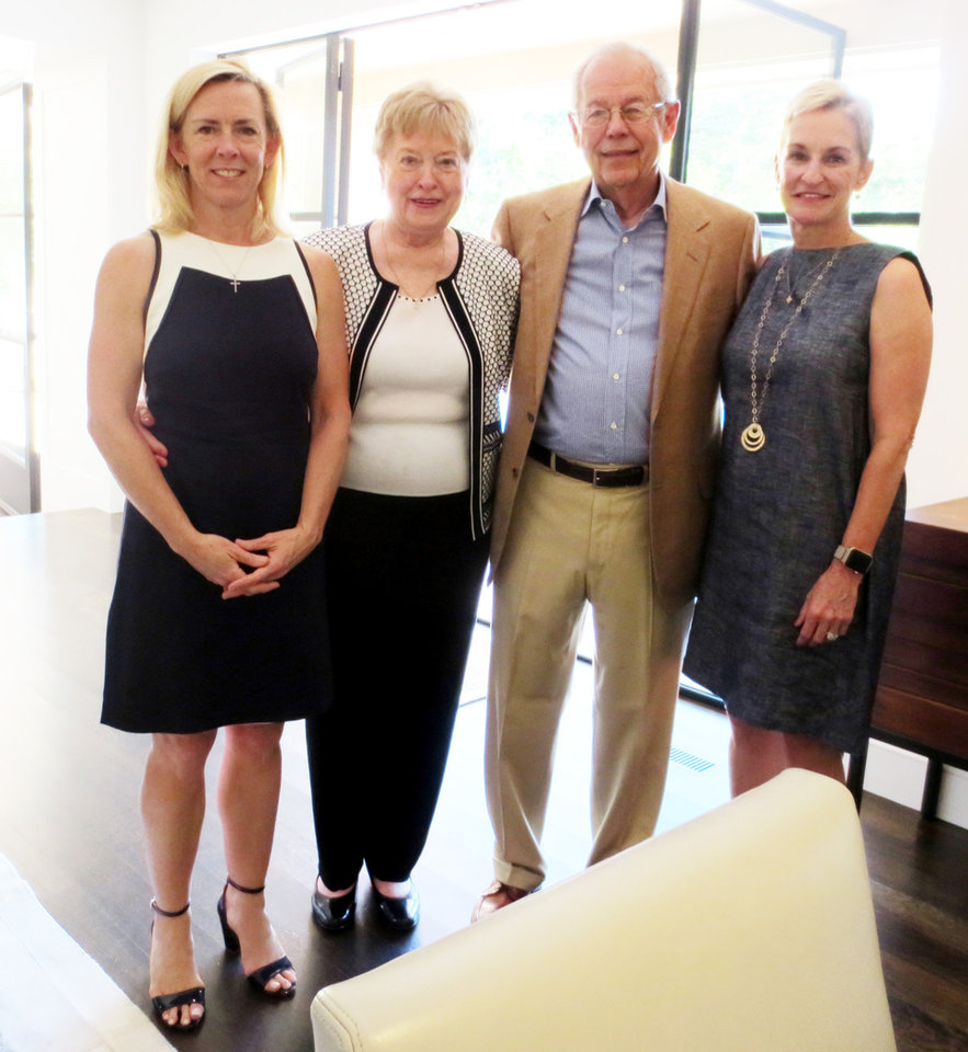 Photo - Tricia Everest, Lois Salmeron, Jim Hartsuck, Kathy Brown. PHOTO BY HELEN FORD WALLACE, THE OKLAHOMAN