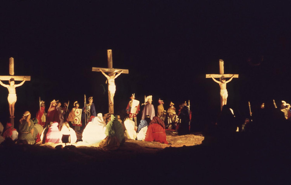 Photo - Easter pageant at the Holy City of the Wichitas from 1968.