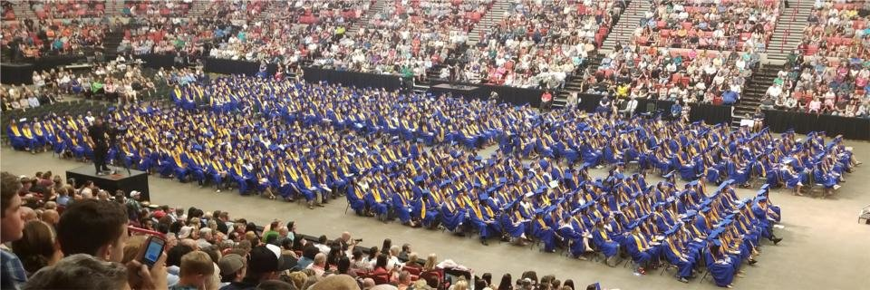 Photo -  The 2018 commencement ceremonies of EPIC Charter Schools were held June 2 at the Cox Convention Center. [PHOTO PROVIDED]