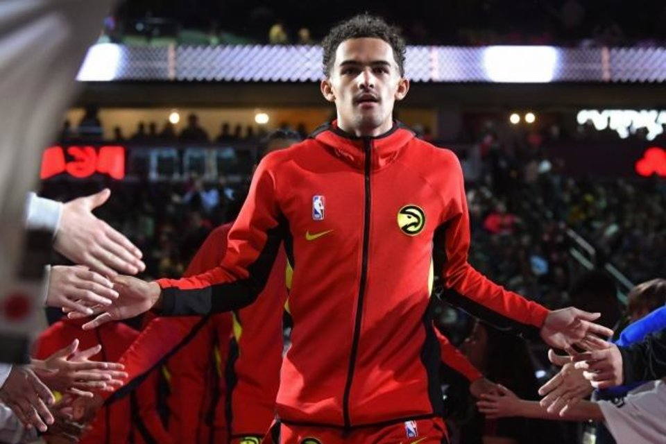 Photo -  Atlanta Hawks guard Trae Young, who was announced as a starter Thursady for next month's NBA All-Star Game in Chicago, will face his hometown Thunder on Friday in Oklahoma City. [AP Photo/John Amis]