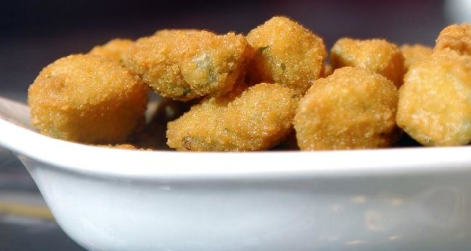 Photo -  A bowl of fried okra from Ann's Chicken Fry House circa 2006. [The Oklahoman Archives]