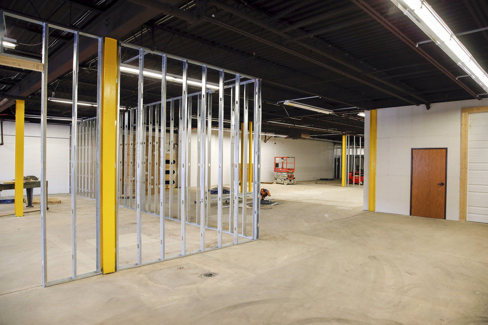 Photo -  A warehouse is ready to be built out as needed in Project 3810. [PHOTO BY NATE BILLINGS, THE OKLAHOMAN]