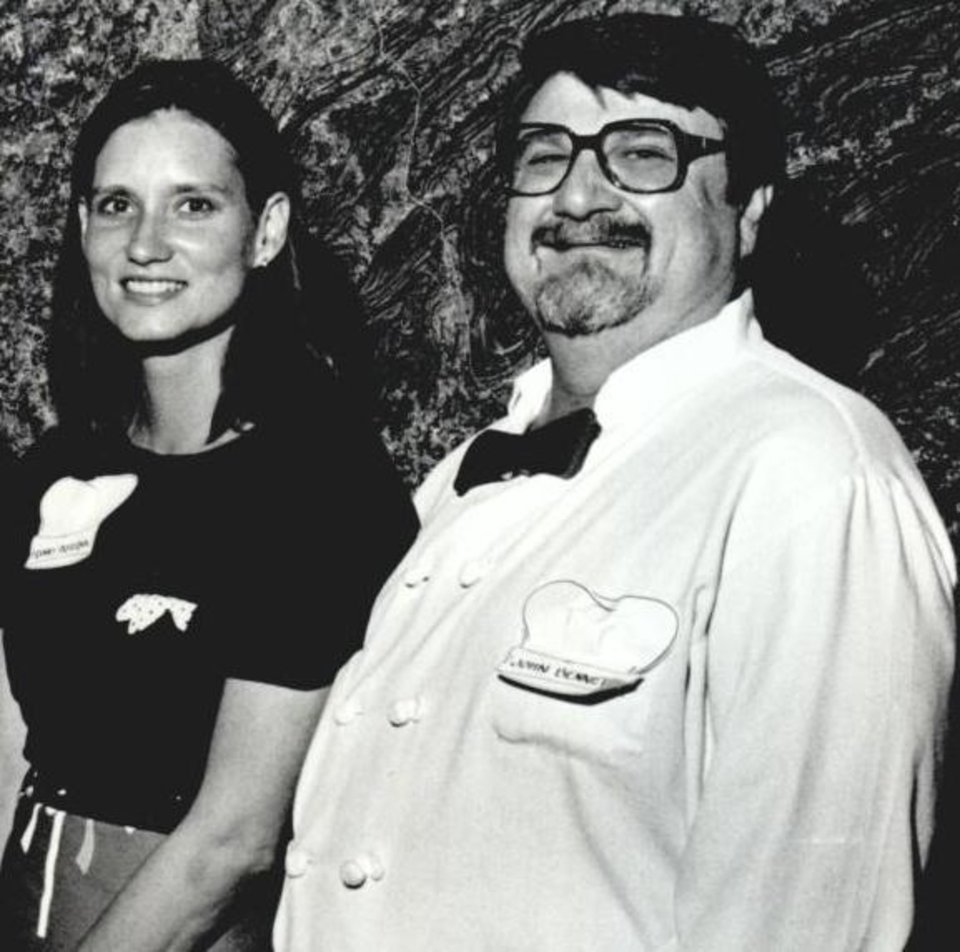 Photo - Chefs Franny Pasternik and John Bennett, May 25, 1988.