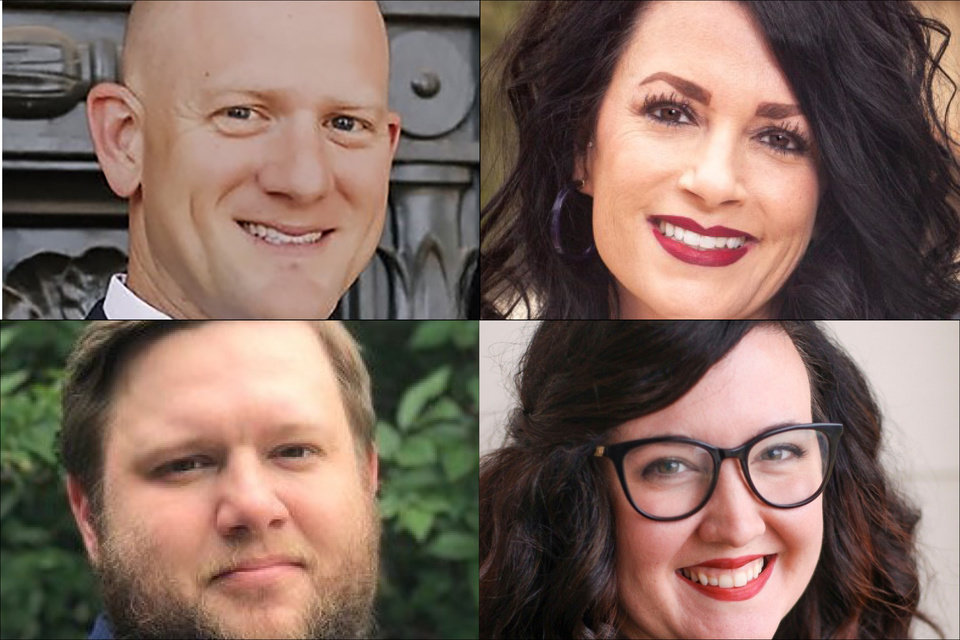 Photo - Pictured clockwise from top left, the candidates running in Senate District 22 are Jake Merrick, Keri Shipley, Molly Ooten and Dylan Billings. [Photos provided]