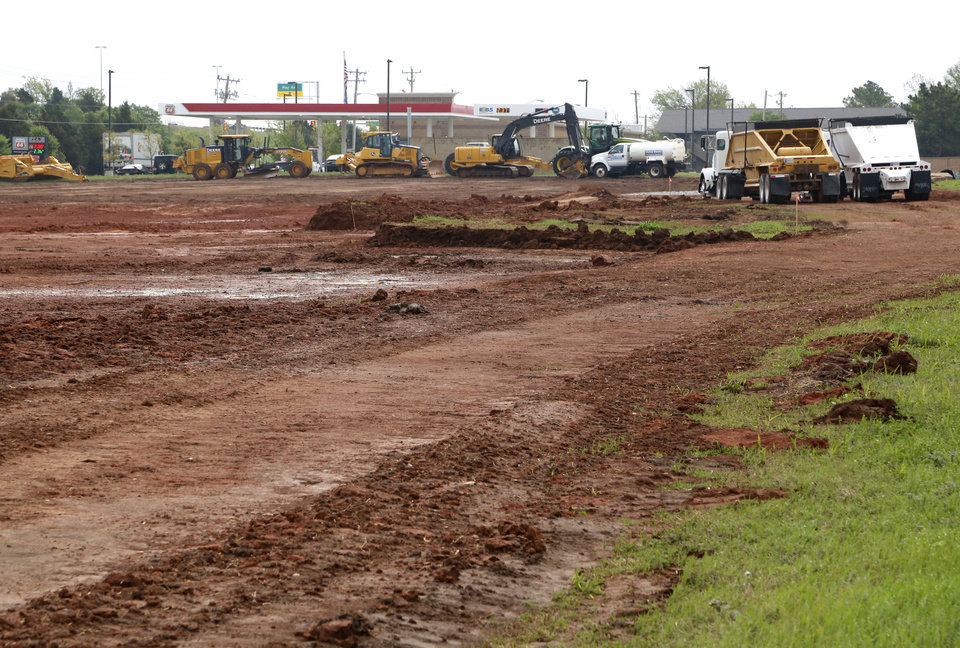 Crews Are Preparing A Site At 3400 W Memorial Road In Oklahoma City Where  The New Mathis Brothers Village Furniture Complex Will Stand.