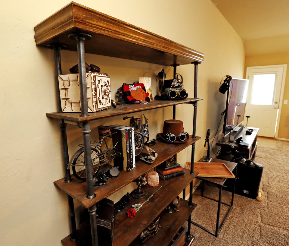 Luxury The shelf that Christian Lowden made from repurposed lumber and pipes led to a business