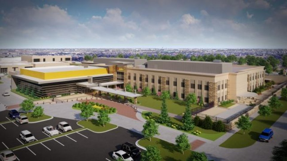 Photo -  Expansion of the Love's campus in The Village includes an event center shown in this rendering by FSB.