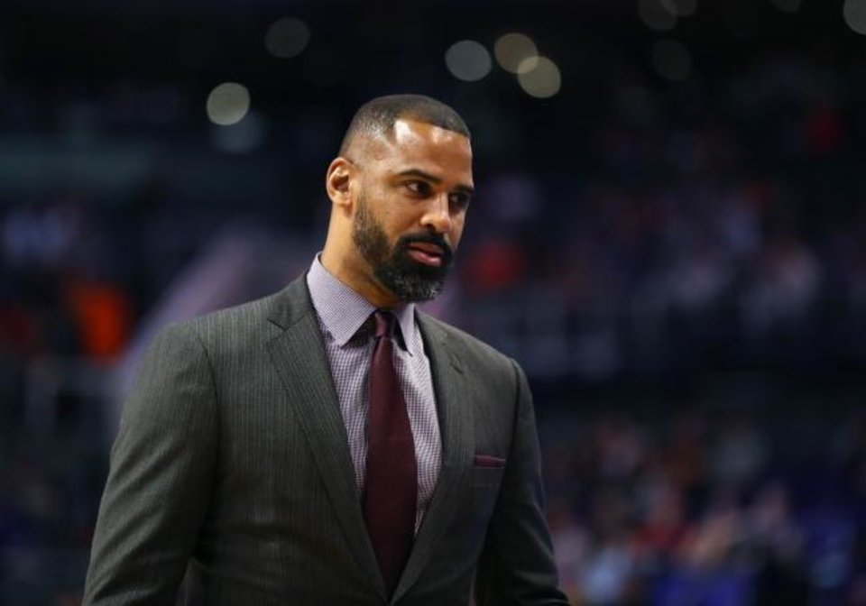 Photo -  Ime Udoka joined the 76ers as an assistant coach last summer after seven seasons in San Antonio under Gregg Popovich. [Mark J. Rebilas/USA TODAY Sports]