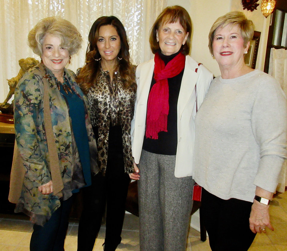 Photo - Sue Ann Hyde, Corey Hyde, Nancy Hall, Becky Enos. PHOTO BY HELEN FORD WALLACE, THE OKLAHOMAN
