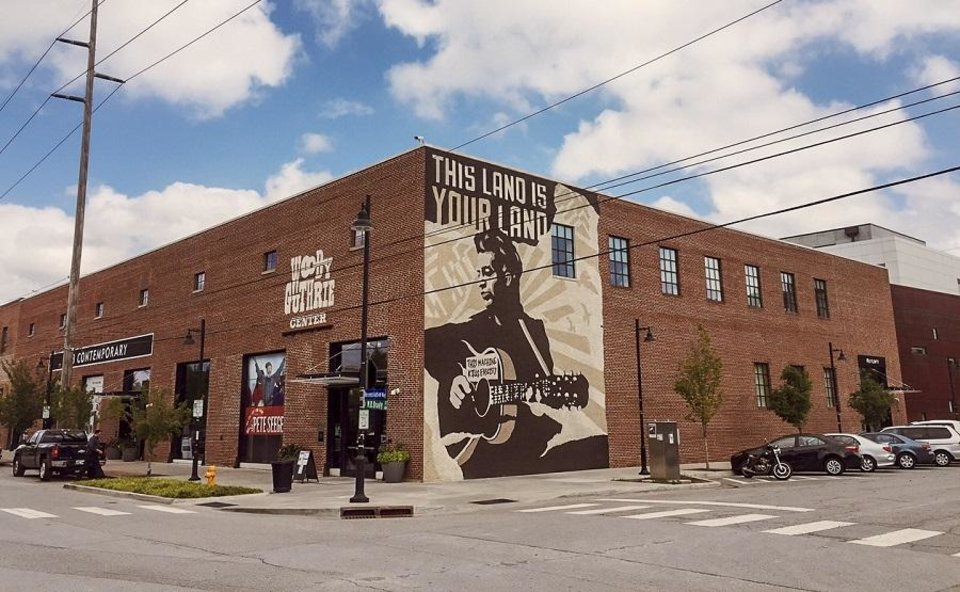 Photo - The Woody Guthrie Center in Tulsa, Okla. is seen on Aug. 18, 2017. [The Oklahoman Archives]