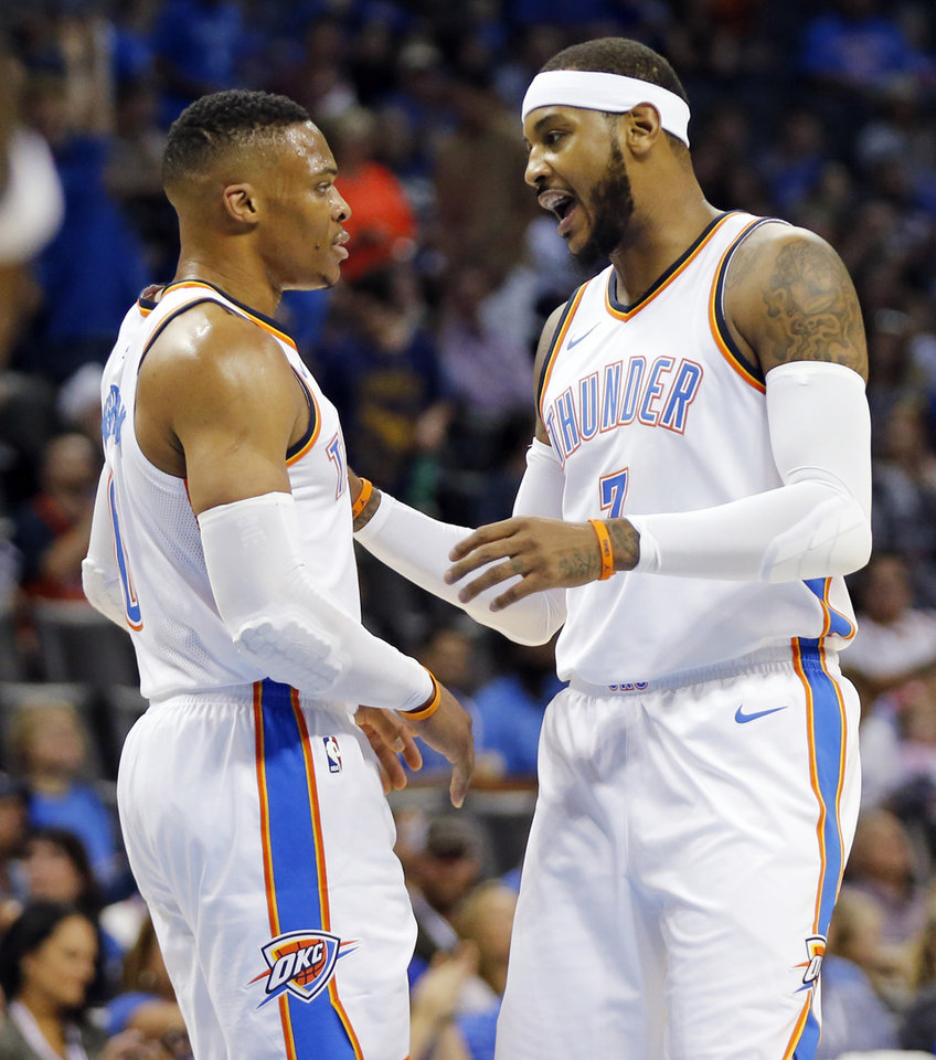 Image result for carmelo anthony russell westbrook
