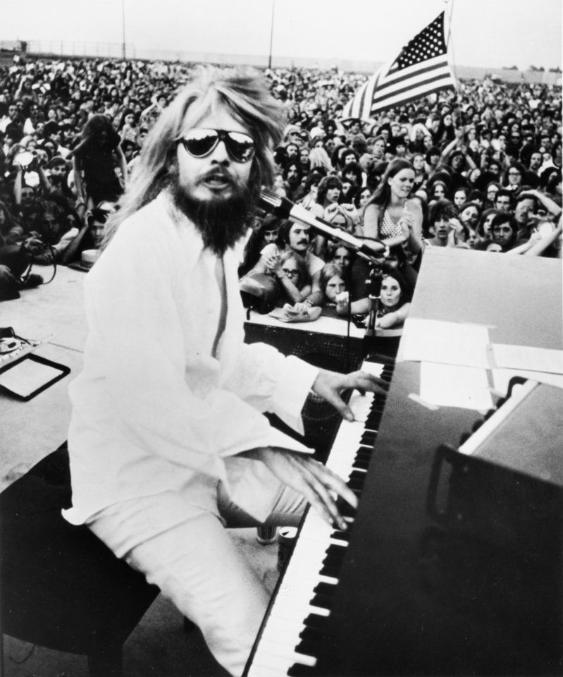 Photo - Stock promotional photo of Tulsa singer Leon Russell from the early '70s. The photo was provided by Shelter Recording Company, Inc. of Hollywood, CA, for promotion of Russell's