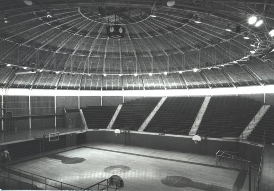 Photo -  Interior, with domed ceiling of 1954 Capitol Hill High School gymnasium. [PHOTO PROVIDED BY FSB]