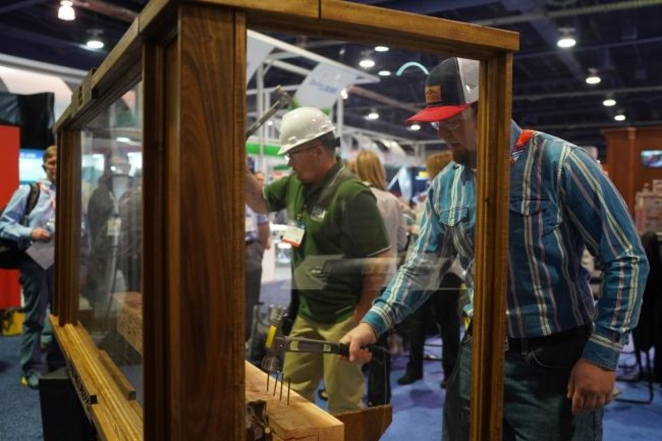 Photo -  A hands-on exhibit at the 2020 International Builders Show in Las Vegas. [NICK HAGEN PHOTOGRAPHY AND NAHB]