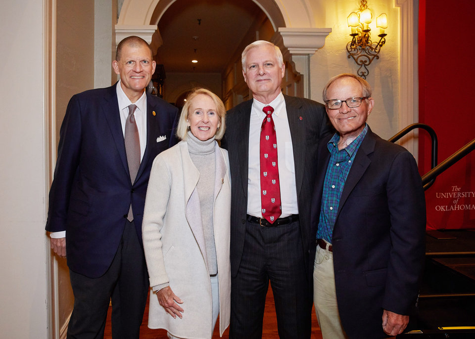 Photo - Clay Bennett, Christy Everest, James Gallogly, Jim Everest. PHOTO BY TRAVIS CAPERTON
