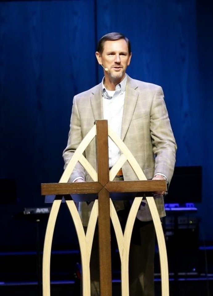 Photo -  The Rev. Paul Chitwood, president of the Southern Baptist Convention's International Mission Board (IMB), speaks during a