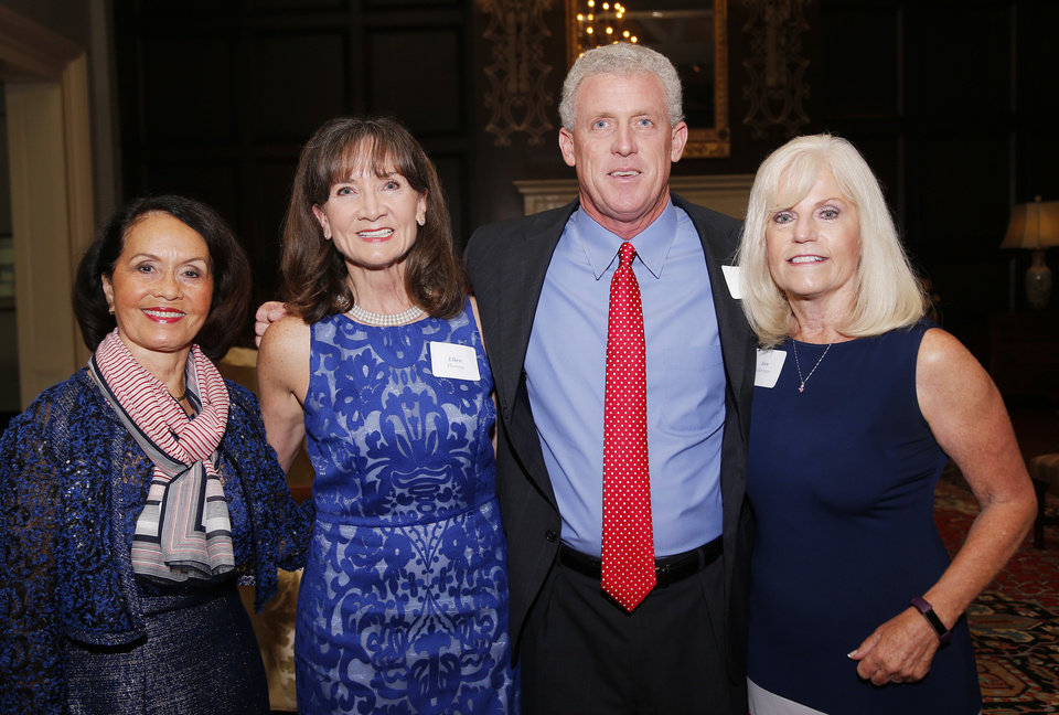 Photo - Terri Cooper, Ellen Fleming, Tim Fleming, Ann Ackerman. PHOTO BY SARAH PHIPPS, THE OKLAHOMAN