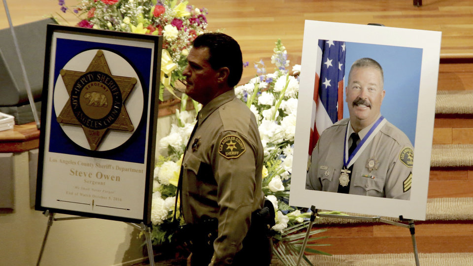 Thousands attend memorial services for slain Los Angeles