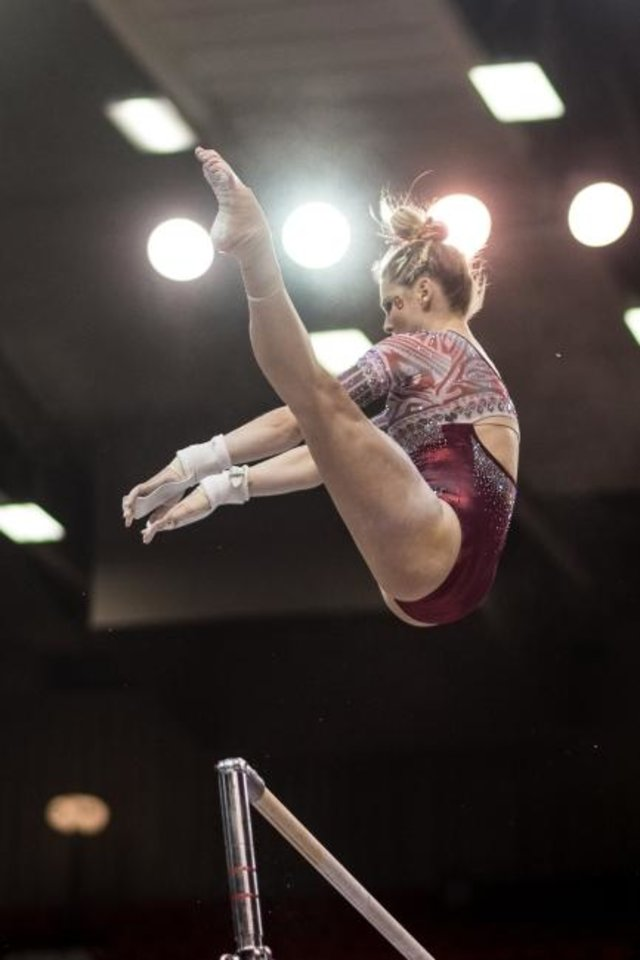 OU gymnastics: Alex Marks' road from Cushing to Norman took