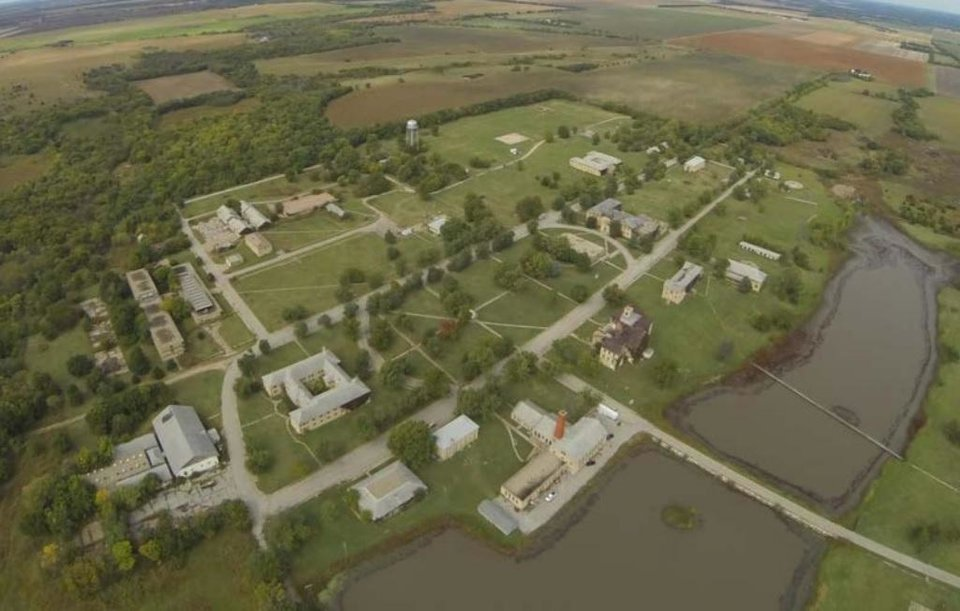 Photo -  Aerial photograph of the Chilocco Indian School campus. [Photo provided by Department of Homeland Security]