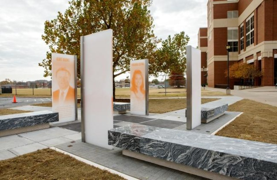 Photo -  Cantera Concrete Co. received a 2018 Build Oklahoma Award in the specialty contractors category for work on the Oklahoma State University Remember the Four Memorial in Stillwater. [PHOTO PROVIDED BY ASSOCIATED GENERAL CONTRACTORS OF OKLAHOMA]