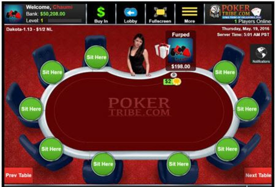 Photo -  The Iowa Tribe hopes to launch Pokertribe.com, an international gaming website. [Screenshot provided]