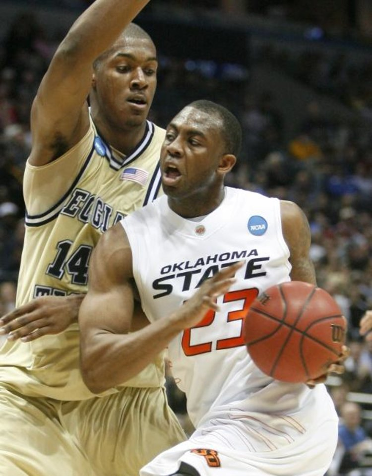 Photo -  OSU's James Anderson drives against Georgia Tech in the 2010 NCAA Tournament. [Bryan Terry/The Oklahoman]