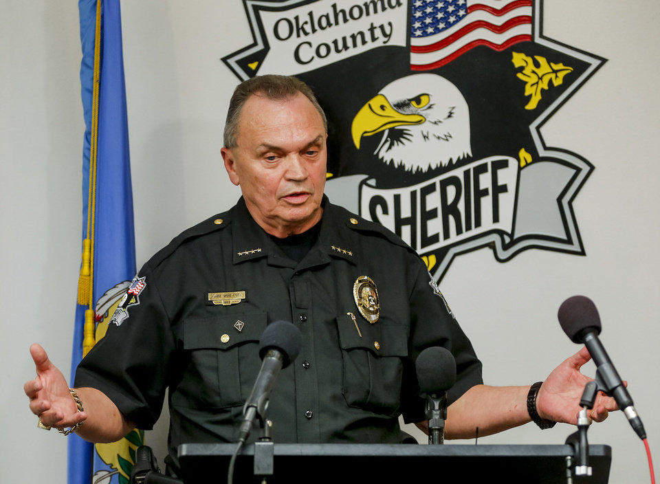 Photo -  Oklahoma County Sheriff John Whetsel on Monday called murder defendant Michael Dale Vance Jr. a